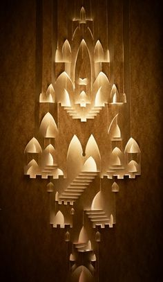 #paper #castle #cut #out #lights