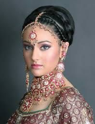 indian wedding saree hairstyle - Google Search