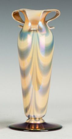 Early 20th Century. Imperial Decorated Vase with Looped Top : Lot 385