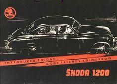 Skoda 1200 - Prospekt Advertising Sales, Car Posters, Car Drawings, Vintage Ads, Vintage Logos, Car Brands, Retro Cars, Old Cars, Cars And Motorcycles