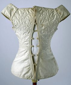 Corset 1810s–20s american, cotton, back                                                          Culture:                                        American                                                          Medium:                                        cotton
