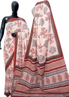 Block print Mal Mal saree Ethnic Fashion, Womens Fashion, Weave, Kimono Top, Saree, Tops, Women's Fashion, Hair Lengthening, Sari