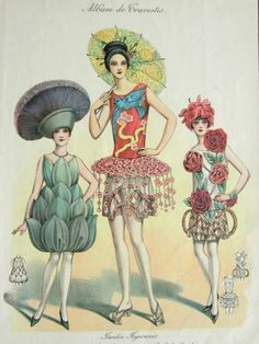 1920s Art Deco French Floral Fashion by SusabellaBrownstein