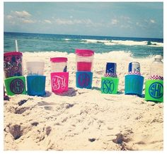 Chevron Personalized Sand Spike Beach Drink Holder Gifts