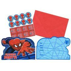 Spiderman InvitationsOne Stop Kids Party Shop Invitation Set, Party Invitations, Spiderman Party Supplies, Party Shop, Kids, Pictures, Children, Photos, Boys