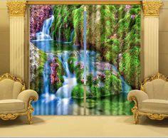 Photo Print stereoscopic 3d Curtains curtain fabrics print 3d Stereo photo printing roller blind(China (Mainland))