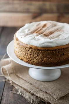 Pumpkin Cheesecake {pin shows whipped topping and cinnamon instead of caramel like the site, but it's the same recipe}