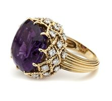 amethyst and diamond ring by Cartier