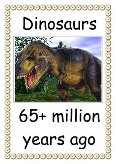 Dinosaurs - 65+ million years ago secondary teaching resource. From the dinosaurs through key periods of history to the present day. Stone, Bronze, Iron and Middle Ages. As well as the first public railway in 1825, England winning the World Cup in 1966 and the 2012 Olympics.