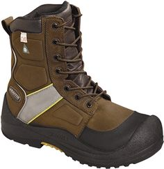 """Men's Baffin 8"""" Composite Toe Insulated Metal Free Work Boot IREB-MP04-BR7"""