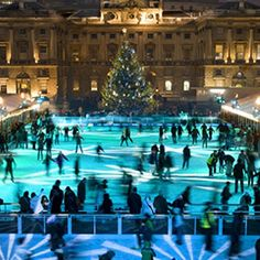 Somerset House Ice Rink #london    Plan #yourjourney online at http://ojp.nationalrail.co.uk/service/planjourney/search
