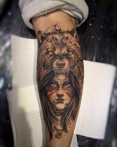 #tattoo #tatuagem #ink #inked #bodymodification #alineymarques #indian #bear Tattoo Designs, Tattoo Ideas, Tattoo Inspiration, Tatoos, Tatting, Face, Instagram Posts, Stylus, Blackwork
