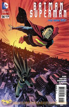 Batman/Superman #14 variant cover by Matteo Scalera
