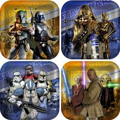 Star Wars Generations 3D Square Dessert Plates Party Accessory by KidsPartyWorldcom >>> Click image to review more details.Note:It is affiliate link to Amazon. #comment4comment