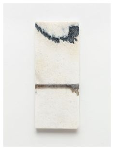 Brice Marden, #3  2011   Oil and graphite on marble   19 3/4 x 8 inches; 50 x 20 cm