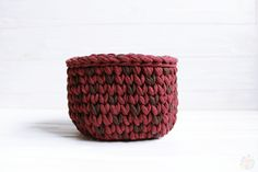 Interior knitted basket. Handmade with 100% cotton yarn. For storage small things. It holds its shape. Perfectly fit into any design.