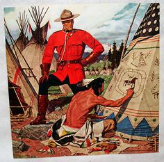1953 original Arnold Friberg CANADIAN MOUNTIE Print #1 Norman Rockwell Art, Canadian History, Le Far West, Sports Art, Vintage Travel Posters, Military Art, Western Art, First Nations, Native American Indians