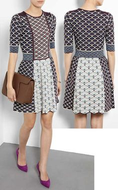 M Missoni Shell Knit Fit and Flare Dress