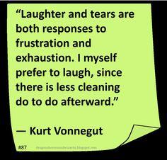 ♥ Kurt Vonnegut ♥ ~ #Quote #Author #Laughter