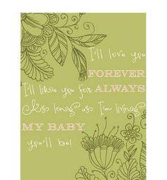 I'll Love You Forever Printable