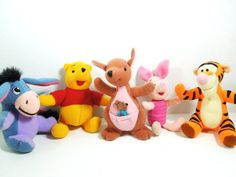 Vintage Winnie the Pooh and Friends Stuffed by Moonlightdecorator, $15.00