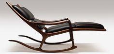 Sam Maloof - the essence of rocking chair perfection Unique Furniture, Wood Furniture, Furniture Design, Sam Maloof, Take A Seat, Mid Century Furniture, Mid Century Design, Midcentury Modern, Modern Chairs