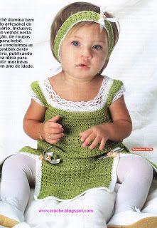 Arte e croche: Vestidinho pra bebe