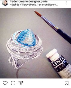 Jewellery Sketches, Jewelry Drawing, Jewelry Sketch, Jewelry Illustration, Best Artist, Artist At Work, Designs To Draw, Class Ring, Jewelery