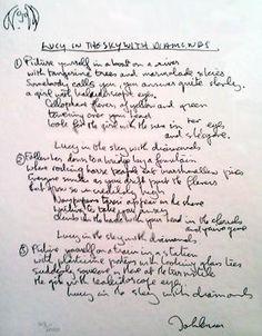Lyrics - Lucy in the Sky With Diamonds