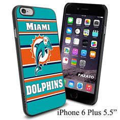 """NFL M MIAMI DOLPHINS , Cool iPhone 6 Plus (6+ , 5.5"""") Smartphone Case Cover Collector iphone TPU Rubber Case Black Phoneaholic http://www.amazon.com/dp/B00VWGB0FK/ref=cm_sw_r_pi_dp_6x-mvb08MGSGN"""