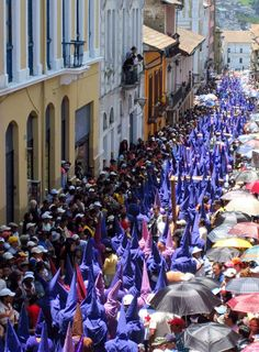 Celebrating Holy week (Semana Santa), in Quito, Ecuador.