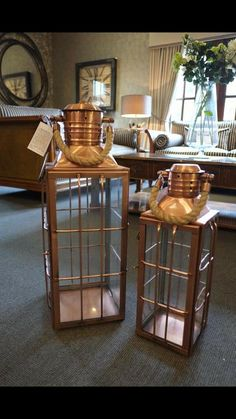 lanterns in shades of copper