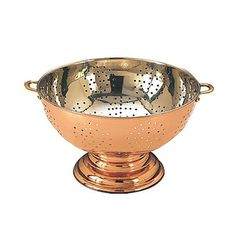 Copper Footed Colander : Beautiful for displaying fruits etc on countertop