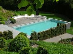 Zwembad tuin 2 #Schwimmbad www.bsw-web.de