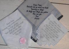Huwelijk van astrid zakdoeken http://www.bruiloftzakdoekje.nl/