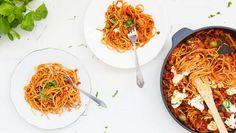 Vapaapäivän mutkaton spagettivuoka