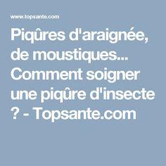 Piqûres d'araignée, de moustiques... Comment soigner une piqûre d'insecte ? - Topsante.com