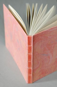 Marbled Linen Guest Book with Lined Pages by NatalieAsIs on Etsy, $58.00