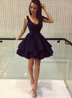 Cheap homecoming dresses Cute Backless Ruffles Homecoming Dress #Short Homecoming Dress#HomecomingDresses#Short PromDresses#Short CocktailDresses#HomecomingDresses