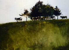 Andrew Wyeth, Shady Trees on ArtStack #andrew-wyeth #art