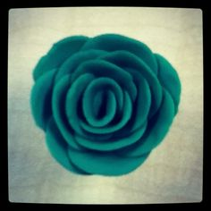Green play-doh rose.