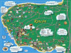 Rincon Puerto Rico Maps & Directions » Puntas Rincon Villas - 2BR/1BA PENTHOUSE CONDO, PRIVATE ROOFTOP DECK, OCEAN VIEWS, STEPS TO BEACH, NIGHTLIFE, SURF!