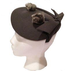 Beautiful Vintage Gray Felt Beret. $32.00, via Madge's Hatbox on Etsy.