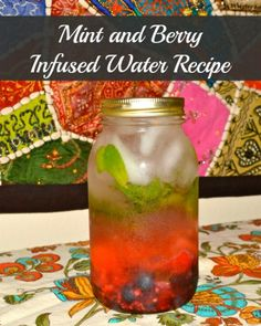 mint and berry infused water recipe
