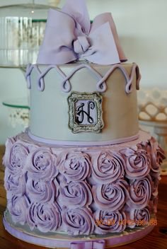 Lavender and Grey Shower cake