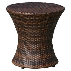 Christopher Knight Home Adriana Wicker Patio Accent Table