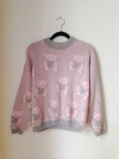 Pastel Grunge Bear Sweater Size Small 1990s by weallneedvintage, $28.00