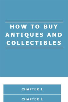 HOW TO BUY ANTIQUES AND COLLECTIBLES<p>Are you aware of all the money being made on eBay and other sites selling antiques and collectibles? You can't help but notice. And maybe you were a little envious or frustrated because they knew something you didn't. Well I'm here to tell you that these people were not born with any special intrinsically knowledge of the antique and collectible trade. It's learned behavior as they say. The people making money in the trade in most cases have acquired…