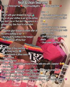 ✩☾ cleaning my bedroom room cleaning tips clean room ☽✩ School Life Hacks, Girl Life Hacks, Simple Life Hacks, Useful Life Hacks, Girls Life, Cute Room Ideas, Cute Room Decor, Teen Room Decor, Room Ideas Bedroom