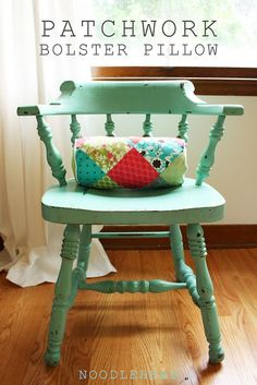Cute pillow. I can't wait to get my sewing machine out of storage and  make some pretty and bright things. :)